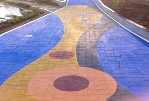 彩色沥青路